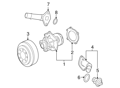 Oem 2008 Chevrolet Trailblazer Water Pump Parts