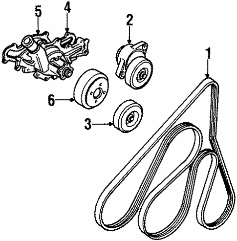 Maintenance & Lubrication/Belts & Pulleys for 1997 Ford Ranger #1