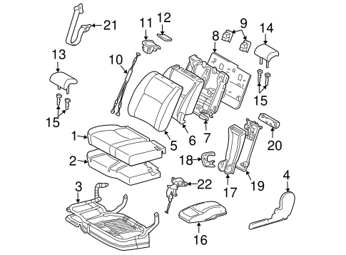 BODY/SECOND ROW SEATS for 2004 Toyota Highlander #1