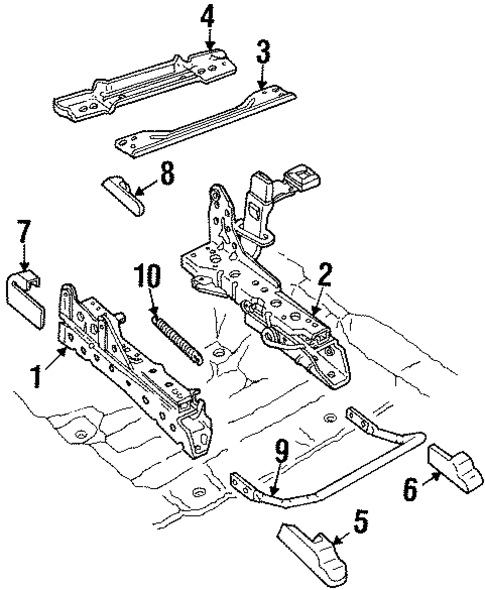 Body/Tracks & Components for 2000 Ford Crown Victoria #1