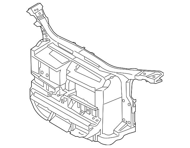 genuine 2013 2015 bmw x1 radiator support 51 64 8 038 058 free BMW Pedal Car Parts List radiator support bmw 51 64 8 038 058