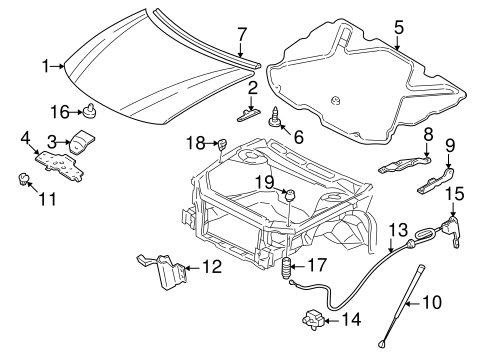 Hood Components For 2000 Buick Century