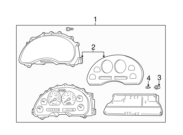 Genuine Ford Instrument Cluster Housing Cover XR3Z-10890-AA