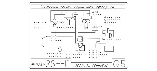 vacuum diagram - toyota (17792-74580)