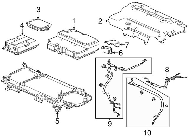2014 Honda Accord Plug In Sedan Condenser Charge Ac 1c670 5k0 A02