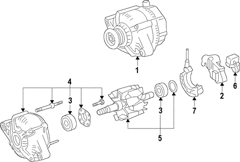 Genuine Oem Alternator Parts For 2000 Toyota Camry Xle