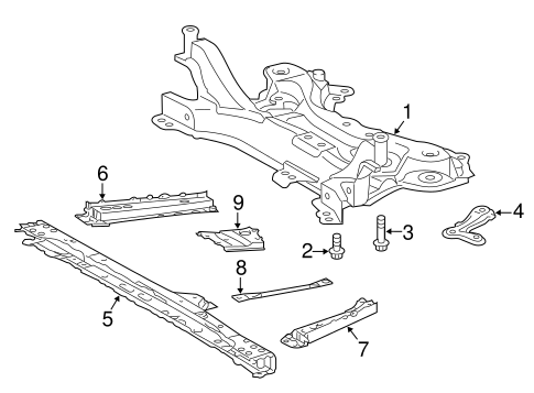 FRONT SUSPENSION/SUSPENSION MOUNTING for 2015 Toyota Prius V #1