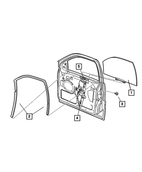 Front Door for 2004 Jeep Grand Cherokee #1