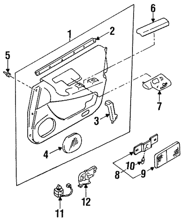 1994 1996 Infiniti Q45 Seat Switch 25492 67u00
