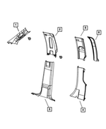 B Pillar Upper Trim Panel, Left - Mopar (1MH97DX9AC)