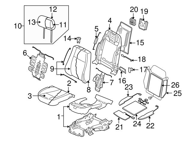 2004 2006 Volkswagen Phaeton Seat Cushion Pad 3d0 881 376 T