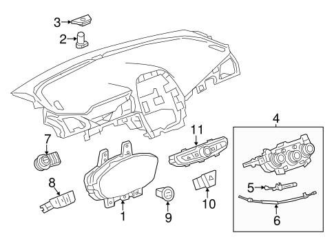 oem 2016 chevrolet spark cluster switches parts. Black Bedroom Furniture Sets. Home Design Ideas