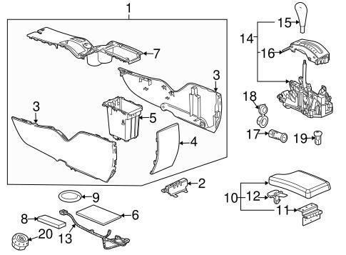oem 2008 pontiac grand prix center console parts. Black Bedroom Furniture Sets. Home Design Ideas