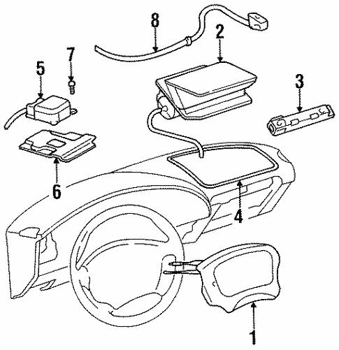 Oem 1997 Buick Skylark Air Bag Components Parts