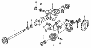 Axle Shaft, Left Rear, Right Rear