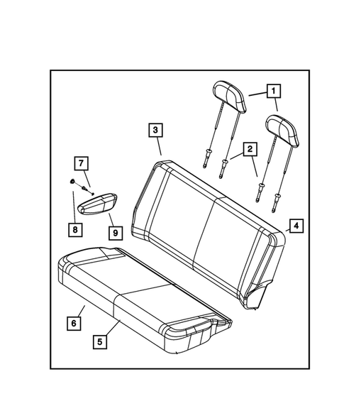 Rear Seats - Second Row for 2013 Chrysler Town & Country #5