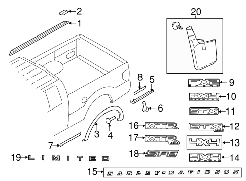 Body/Exterior Trim - Pick UP Box for 2013 Ford F-150 #3