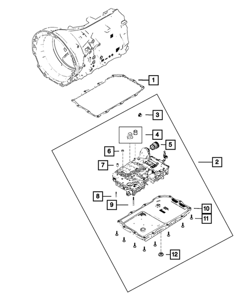 Valve Body  Accumulator  Solenoid And Parking Sprag For 2014 Jeep Grand Cherokee