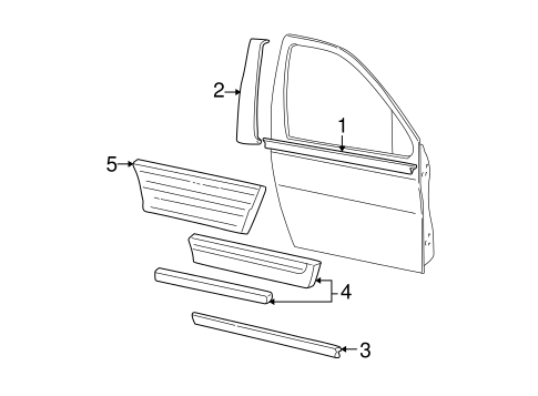 Body/Exterior Trim - Front Door for 2004 Ford Freestar #1