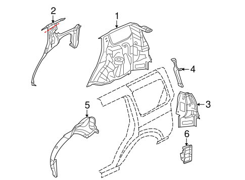 Inner Components For 2008 Land Rover Lr2