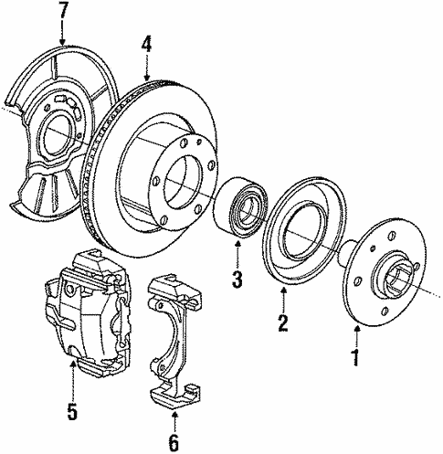Front Brakes for 1991 BMW 325i #1