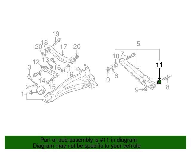 rear lower control arm bushing - mitsubishi (4113a062)
