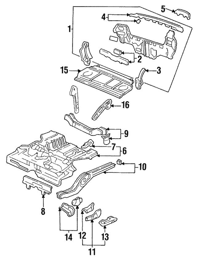 1992 1995 Honda Civic Sedan Skirt R Rear Panel Upper 66130 Sr4
