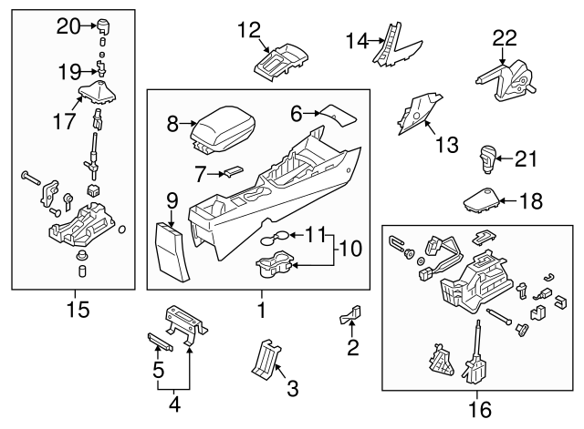 Genuine Hyundai 84640-A5000 Shift Lever Boot Assembly