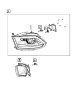Headlamp Park And Turn Lamp, Right - Mopar (68096438AJ)