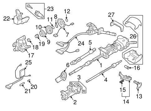 Oem 2004 Hummer H2 Steering Column Assembly Parts