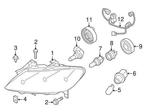 Mazda Low Beam Bulb Socket G14h510x7