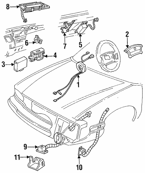 Air Bag Components for 1998 Oldsmobile 88 #0