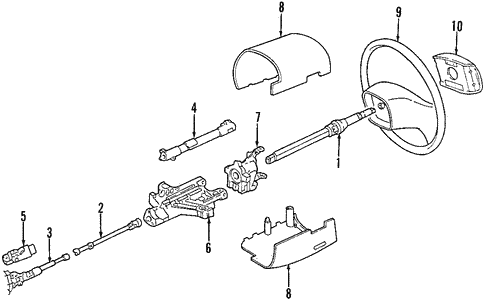Steering Column for 2004 Ford E-350 Super Duty #0