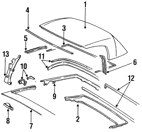 Cover Components For 1991 Porsche 944