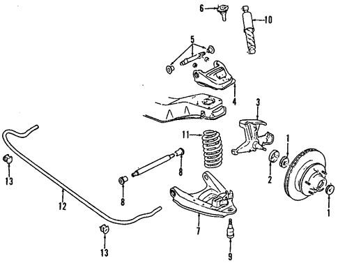 Oem 1993 Chevrolet G20 Front Suspension Parts