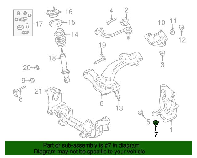 2003 2011 Ford Upper Control Arm Nut W710298 S441