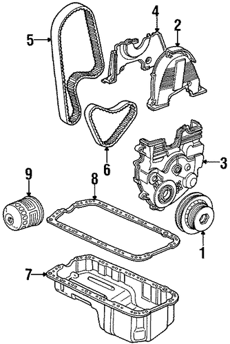 Cover, Timing Belt (Upper)