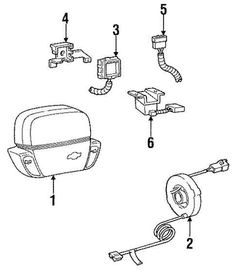 Air Bag Components For 1996 Chevrolet Corsica