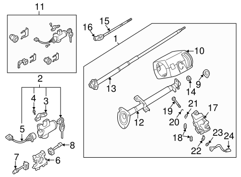 Steering Column Assembly For 2002 Nissan Frontier Conicelli Nissan Parts