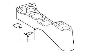 Genuine Oem Center Console Part 58901 52070 B0 Fits 2008