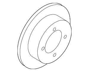 Disc Brake Rotor - Hyundai (58411-3S100)