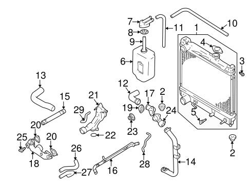 [SCHEMATICS_4US]  Radiator & Components for 2003 Suzuki XL-7 | World OEM Parts Subaru | 2002 Suzuki Vitara Cooling System Diagram Wiring Schematic |  | World Suzuki Subaru Parts - World OEM Parts
