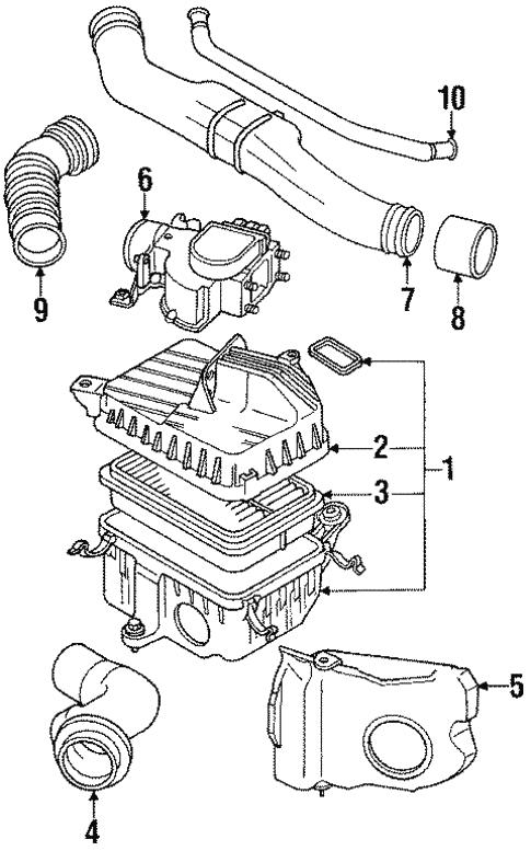 Genuine Oem Air Intake Parts For 1991 Toyota 4runner Sr5