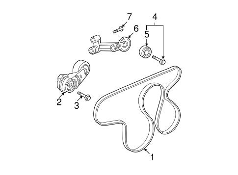 GM OEM Belt or Pulley-Tensioner Bolt 11516356