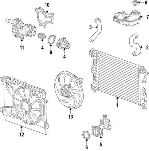 [DIAGRAM_38IS]  OEM Radiator & Components for 2013 Buick Encore | GMPartsCenter.net | Buick Engine Cooling Diagram |  | GMPartsCenter.net
