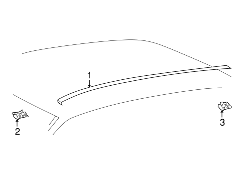 Exterior Trim - Roof for 2005 Toyota Highlander #0