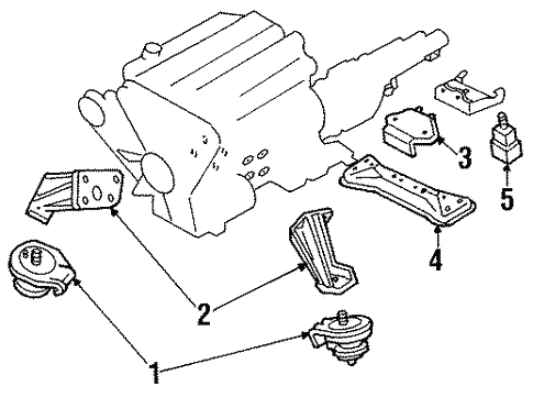 Engine Trans Mounting For 1996 Nissan 300zx