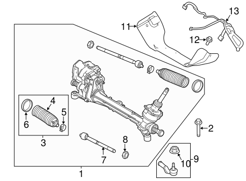 Steering/Steering Gear & Linkage for 2015 Ford Focus #2