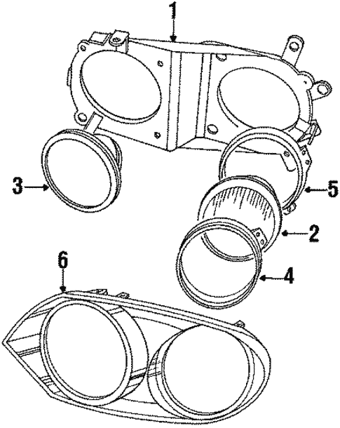 Headlamp Components For 1991 Jaguar Xjs