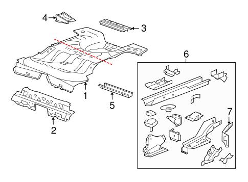 Oem 2012 Buick Regal Rear Floor Amp Rails Parts